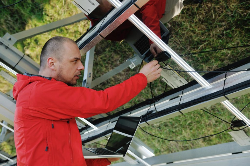 professional solar panels expert installing ev chargers